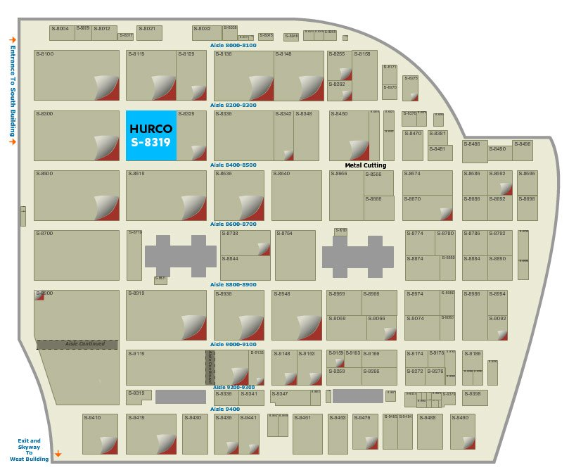 Hurco IMTS floorplan map