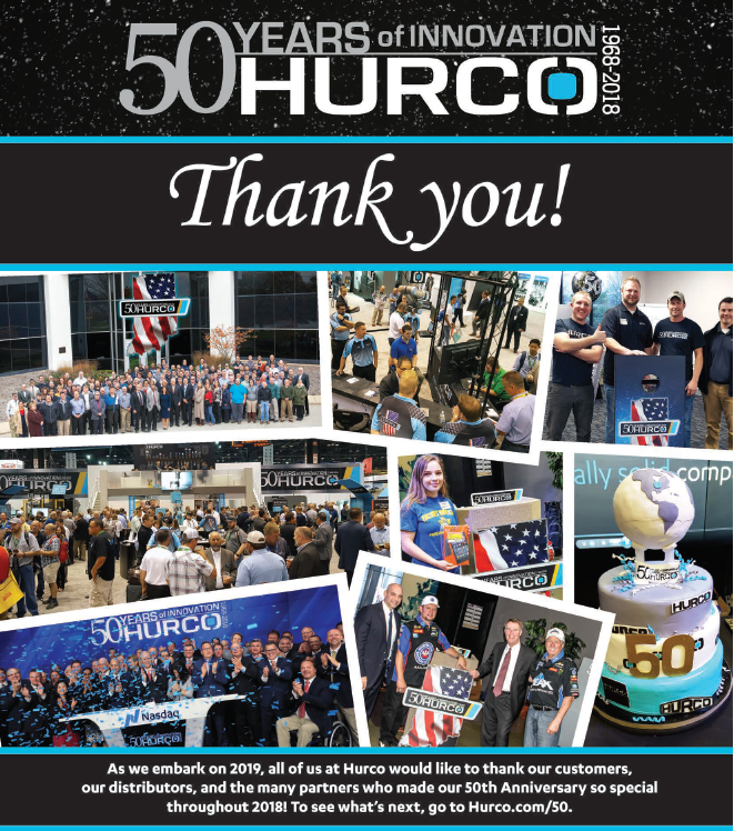 Hurco is Celebrating 50 Years of Innovation at IMTS - Manufacturing